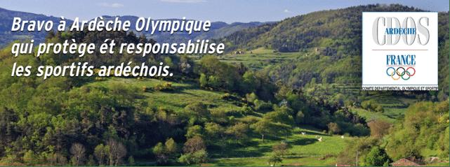Le CDOS de l'Ardèche s'est associé à l'entreprise Sport protect afin d'informer et prévenir les sportifs ardéchois des risques de dopage.
