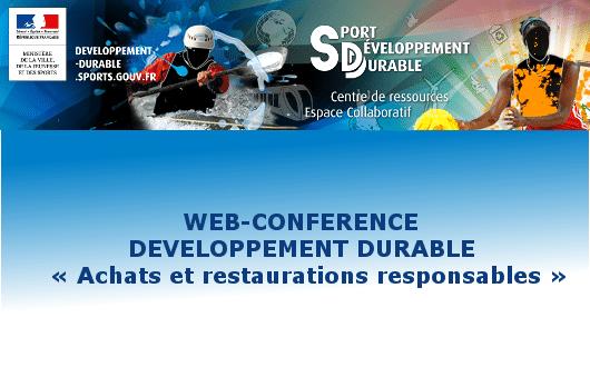 Web-conférence « Achats et restaurations responsables »
