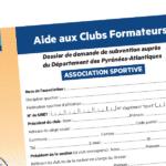 """Aide aux """"Clubs formateurs"""" 2017"""