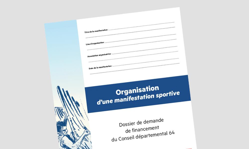 Dossier pour les organisateurs de manifestations sportives