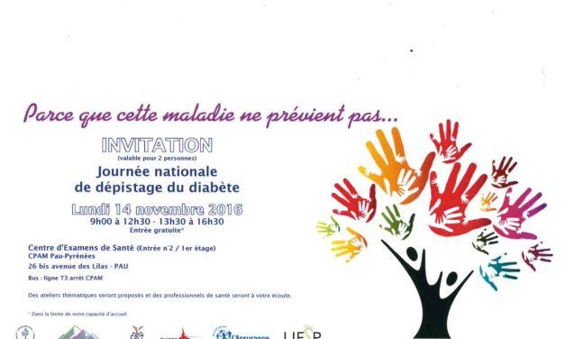 Journée nationale de dépistage du diabète