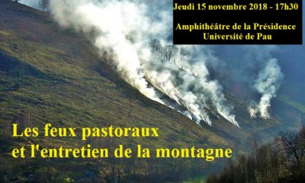 """Conférence """"feux pastoraux et entretien de la montagne"""""""