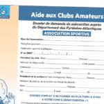 """Aide aux """"clubs amateurs"""" 2019"""