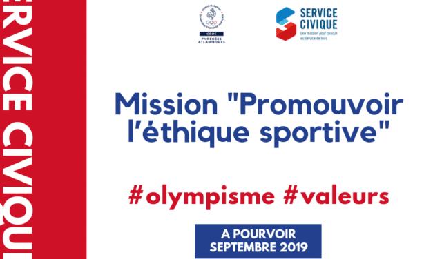 """Mission """"Promouvoir l'éthique sportive"""""""