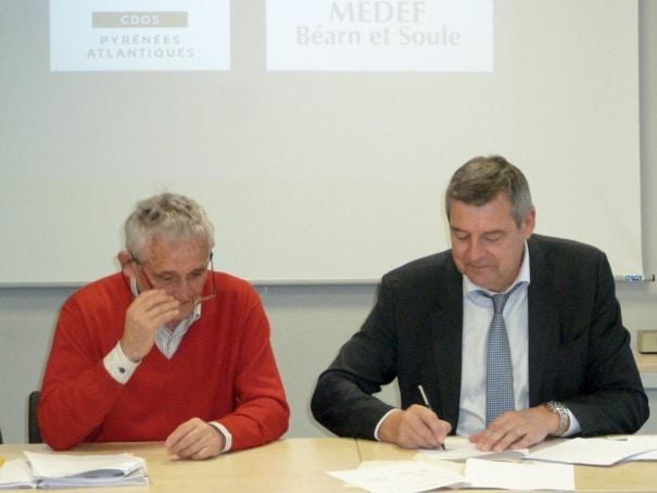 Le MEDEF Béarn et Soule s'engage auprès du mouvement sportif